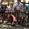 Ana about to zip Line with some friends in Punta Laguna
