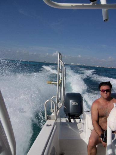On our way from Cancun to see the Whale Sharks.